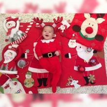 น้องแม๊กซ์เวลล์ น่ารักฟรุ้งฟริ้ง ในชุดซานต้าตัวน้อย
