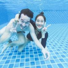 ซีนหวานใต้น้ำของ แพม ปานพิม และ หวานใจมาดเซอร์