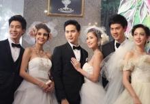 คู่จิ้น-คู่รักดารา สวมชุดแต่งงานเดินแบบสวีทหวาน