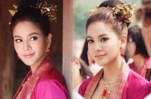 สวยหวานงดงามมาก ๆ ก้อย รัชวิน สวมชุดไทยเมืองเหนือร่วมทำบุญ