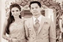 งานแต่งชัดๆ! กรณ์-ศรีริค้า ควงคู่ในชุดไทย