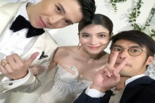 ส่องคนบันเทิงร่วมยินดี มาร์กี้แต่งงาน บอย ปกรณ์ แชะภาพคู่บ่าว-สาว!!(คลิป)