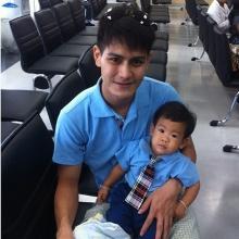 pic::น้องโอเชี่ยนลูกชายสุดน่ารักของน้ำ รพีพัฒน์