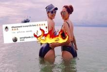 อ้อม พิยดาทำทะเลลุกเป็นไฟ!นุ่งชุดว่ายน้ำโชว์ครั้งแรกในวัย42ปี