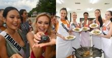 สาวงามมิสยูนิเวิร์ส 2018 เป็นปลื้ม เรียนรู้วิธีทำผัดไทย-ปล่อยเต๋าลงทะเล!