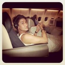 Pic : รวมภาพเหล่าดาราเมื่ออยู่บนเครื่องบิน!!