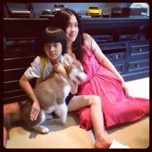 คู่แม่ลูกสุดน่ารัก โบ ชญาดา-น้องอชิ