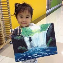 สุดทึ่ง!!ฝีมือศิลปะของน้องนกยูงวัย3ขวบลูกเสนาลิง