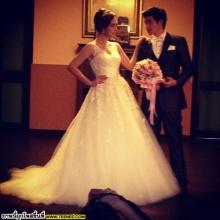 Pic.(เบื้องหลัง) ตูมตาม เดอะสตาร์ - แมท นางเอกช่อง3 ถ่ายแบบชุดแต่งงาน