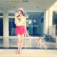 Pic : เมย์ บัณฑิตา กับน้องหมาหน้าแปลกตัวโปรดจ้า!!