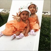 จะน่ารักไปไหน ! น้องฌานา น้องฌารีน เด็กแฝดลูกพ่อเอ็ม