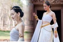 รวมภาพ แต้ว ณฐพร แต่งชุดไทย สวยอลังการสุดๆ