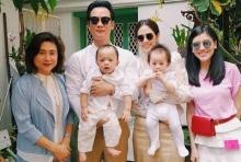 ชมพู่จัดเต็มชุดไทยไปวัด พาสามีและลูกแฝดไปทำบุญ