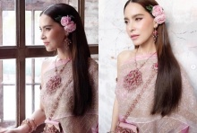 """จัดเต็มกับภาพ """"มาช่า"""" งดงามเลอค่าในชุดไทย"""