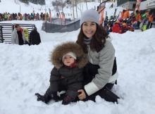 พอลล่า ยกครอบครัวเที่ยวญี่ปุ่น น้องไลลา ลูก้า เล่นหิมะ น่ารักเว่อร์