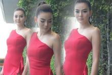 ดิว อริสรา สวยแซ่บในชุดแดงแหวกข้าง โดนใจป๋า