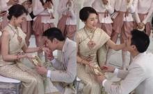 """เริ่มแล้ว! """"กันต์-พลอย"""" เข้าพิธีแต่งงานแบบไทย บรรยากาศอบอวลไปด้วยความรักสุดหวานชื่น (คลิป)"""