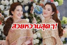 """ประเดิมสงกรานต์!  """"ปันปัน สุทัตตา""""  ใส่ชุดไทยครั้งแรกรับสงกรานต์ปี 62 ชาวเน็ตไฟเขียวผ่าน"""