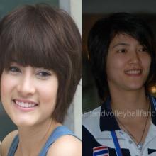 คู่เหมือน มาร์กี้ - ปลื้มจิตร์ ถินขาว นักวอลเลย์ทีมชาติไทย