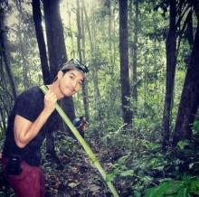 Pic : เวียร์ ศุกลวัฒน์ กับผองเพื่อน ณ ทริปท่องเที่ยวป่า