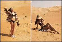 ทะเลทรายยังยอมแพ้ เมื่อ 'มารีญา' อวดบิกินี ท่ามกลางความร้อนระอุ