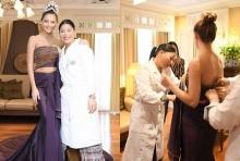 พระองค์หญิงฯประทานชุดราตรีผ้าไหมไทยที่ทรงออกแบบให้ มิสยูนิเวิร์ส 2017