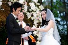 เก็บตกภาพบรรยากาศสุดหวานงานแต่งบี-ลีน่า