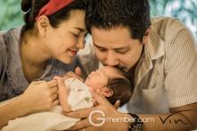 ภาพครอบครัวสุดน่ารัก อ้อม-อาร์ท-น้องนาวา