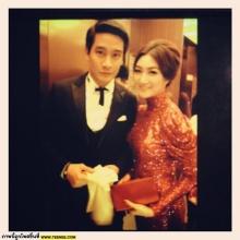 Pic: ป้อง-แพนเค้ก หล่อสวย ร่วมงาน Huading Awards 2012 ที่เมืองจีน