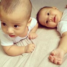 บีน่า-บรู๊คลิน ลูกแฝด นานา-เวย์ น่ารักมาก