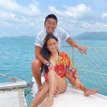 ปีใหม่-ป๋าต๊อบ ควงหวานเที่ยวทะเล เกาะนางยวน