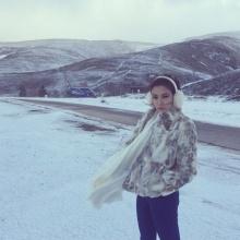 กิ๊ฟซี่ วนิดา กับบรรยากาศสุดหนาว ณ ต่างแดน