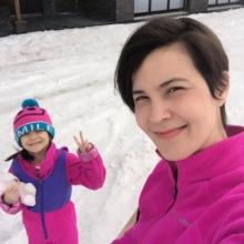 แม่ธัญญ่า - น้องลียา เที่ยว หิมะ วันหยุด