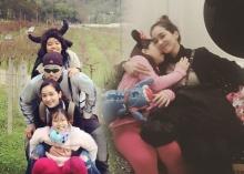 ภาพครอบครัวปัจจุบันของอดีตนางเอกปูเป้น่ารักเนอะ!!