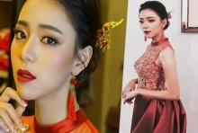 ตะลึง นิวเคลียร์ ในชุดหมั้นแบบจีน สีแดงสดใส สวยมาก!