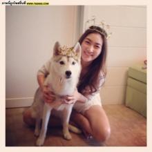 Pic : น่ารัก.. แพนเค้ก กับน้องหมาตัวโปรด!!