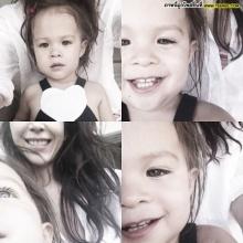 Pic : ความน่ารักของสองแม่ลูก พอลล่า - ไลลา