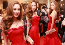 ขวัญ อุษามณี ราตรีสีแดงสดใส่แล้วผ่องขับผิวสวยมากๆ