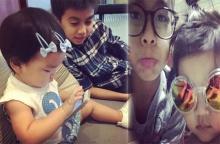 น้องมะลิ - น้องออโต้ 2 พี่น้องแชะภาพสวมแว่นตา น่ารักเฟี้ยวฟ้าว