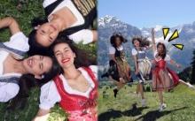 เจ้าหญิงเว่อร์!!! ญาญ่า แอน แคท ในชุดพื้นเมืองยุโรปกับสวนดอกไม้สวิตเซอร์แลนด์!