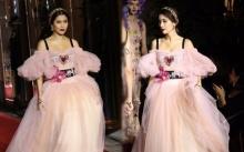 """สวยเว่อร์วังอลังการสุดๆ เมื่อ """"ปู ไปรยา"""" เดินแบบให้แบรนด์ดังระดับโลก Dolce&Gabbana (มีคลิป)"""
